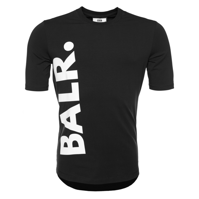 BALR. BIG LOGO ATHLETIC T-SHIRT BLACK