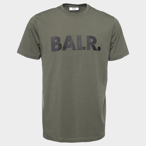 BALR. STRAIGHT BRAND T-SHIRT MEN ARMY GREEN
