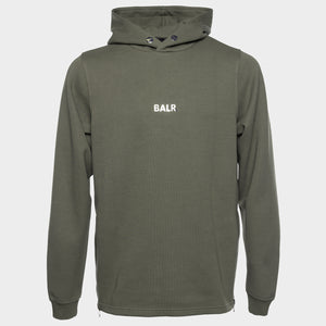 Q-SERIES STRAIGHT CLASSIC HOODIE MEN ARMY GREEN