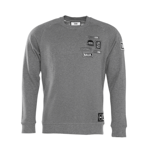 BALR. Badge Crewneck Sweater Grey