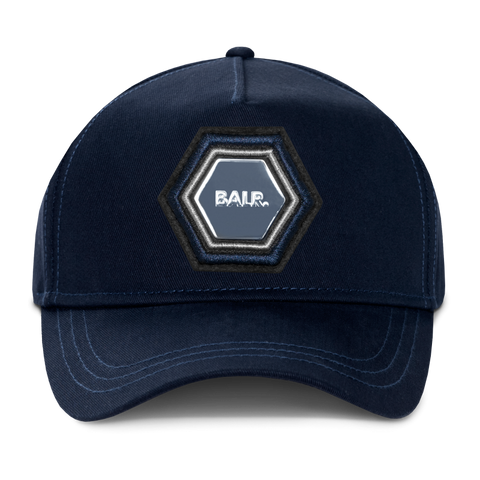 Q-Series Metal Hexagon Badge Cap Navy
