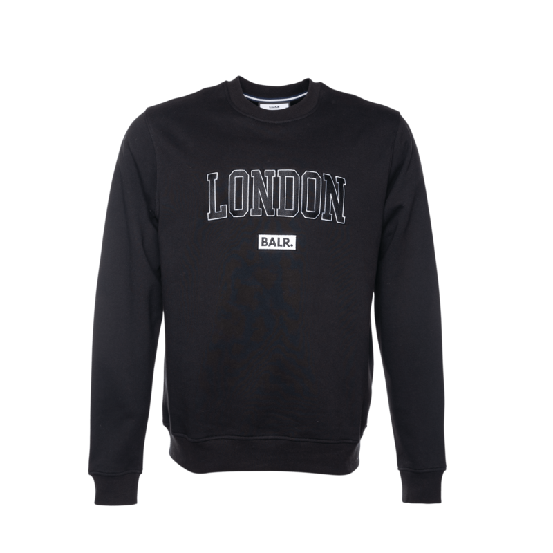 COLLEGE LONDON LOOSE CREW NECK BLACK