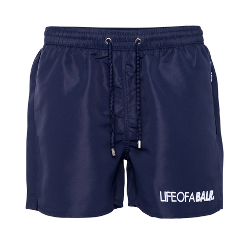 Embroidered LOAB Swim Shorts Navy