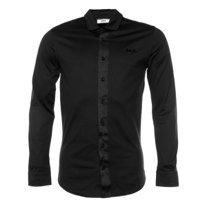 BALR. TAPE STRAIGHT SHIRT LONG SLEEVE BLACK