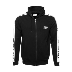 LOAB Tape Zipped Hoodie Black