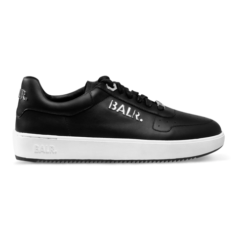 Metal Logo Sneakers Black White