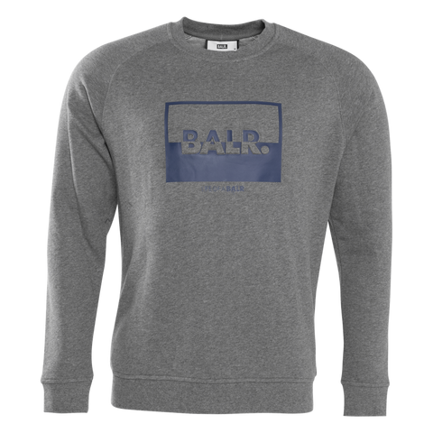 Contrasting Logo Crewneck Sweater Grey