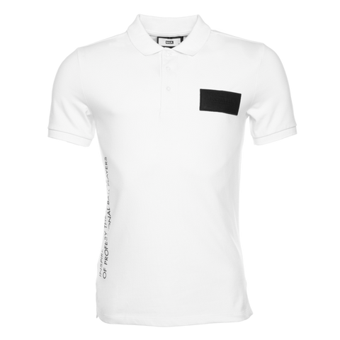 LOAB CONTRAST POLO WHITE
