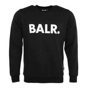 Brand Crew Neck Sweater Black