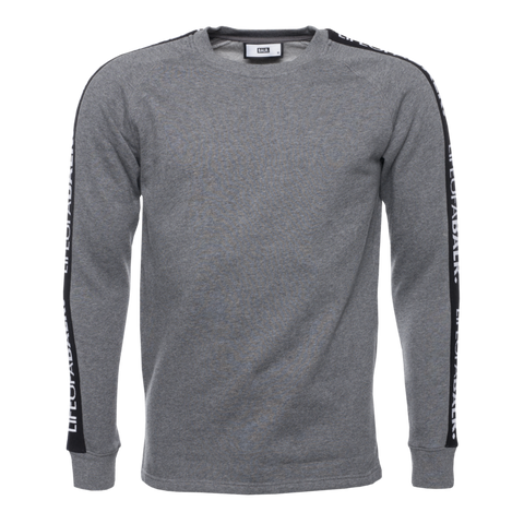 LIFEOFABALR. Tape Crew Neck Sweater Grey