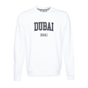 COLLEGE DUBAI LOOSE CREW NECK WHITE