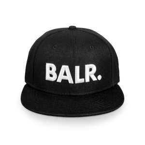 Brand Cotton Cap Black