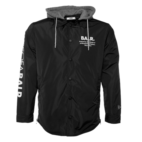 LOAB HOODED COACH JACKET BLACK
