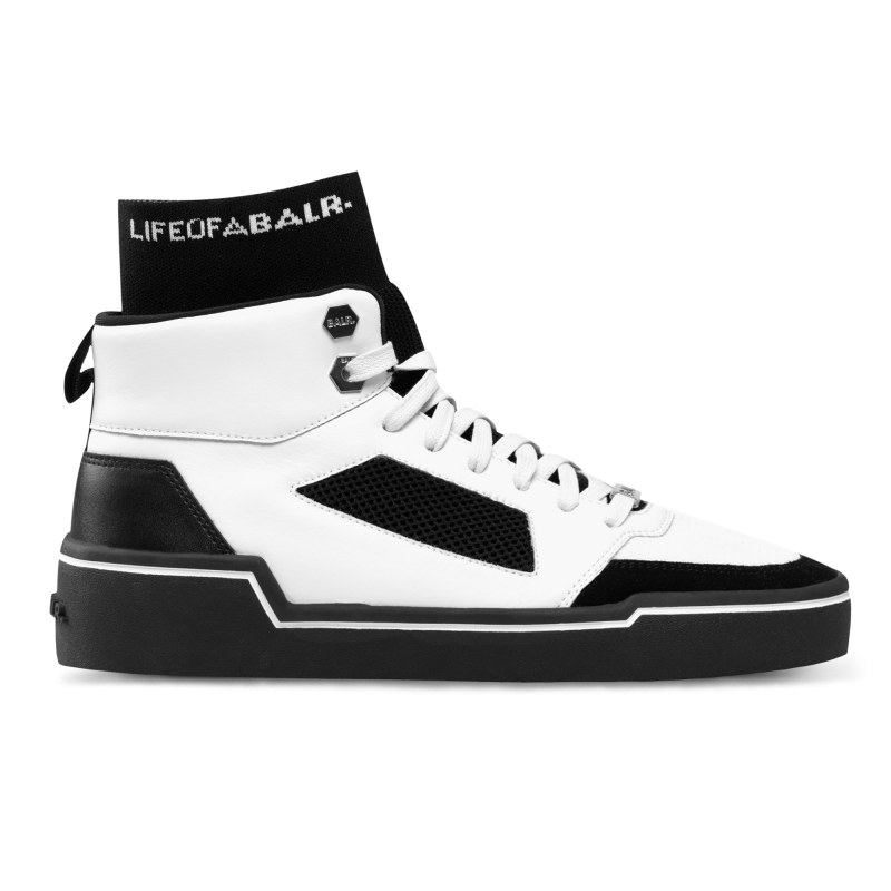 Mesh Panelled High-Top Sneakers