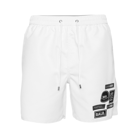 BALR. Badge Swim Shorts White