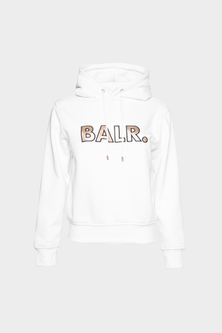 BALR. Sequins Straight Hoodie Women White