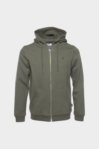 Q-SERIES STRAIGHT ZIPPED HOODIE MEN ARMY GREEN