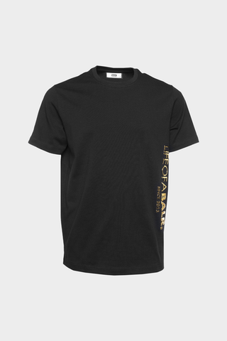 CC BALR. Straight T-Shirt Black/Gold