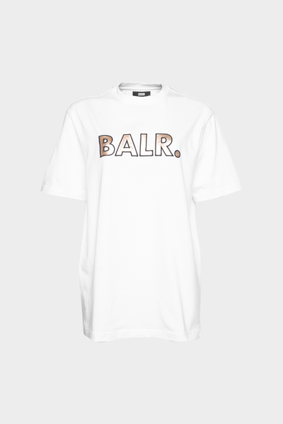 BALR. Sequins Loose T-Shirt Women White