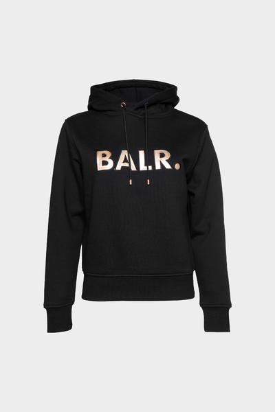 BALR. Sequins Straight Hoodie Women Black