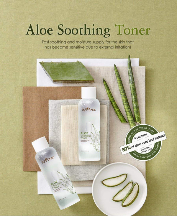 Aloe Vera Soothing Facial Toner for Dry and Sensitive Skin