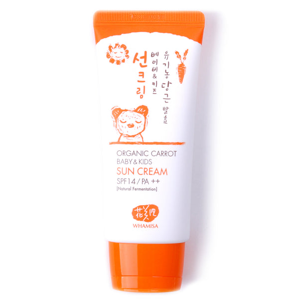 Organic Carrot Sunscreen for Baby & Kids Sun Cream SPF14, PA++