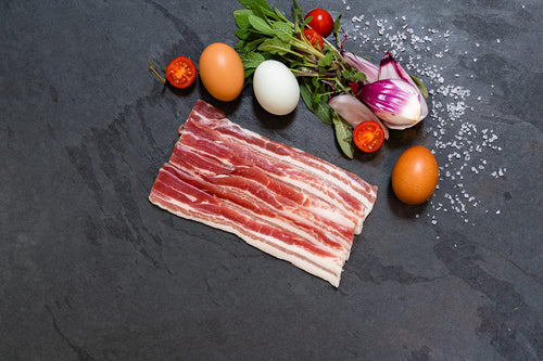 Berkshire Pork Dry Cured Streaky Bacon
