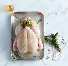 Load image into Gallery viewer, Whole, succulent Yorkshire grain fed chicken (approx 1.7kg)