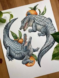 Freehand Fighting Gators
