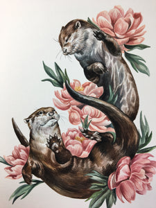 Otters + Peonies