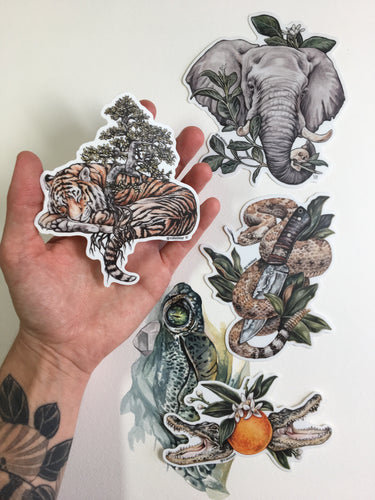 Jungle Stickers 4 pk
