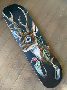 Buck + pitcher plants oil skateboard original