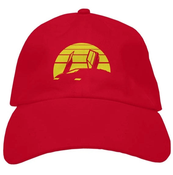 RetroWave Dad hat red