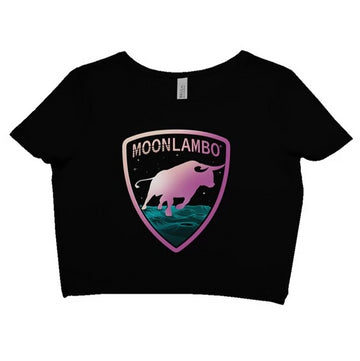 MoonLambo Retrowave emblem CropTop