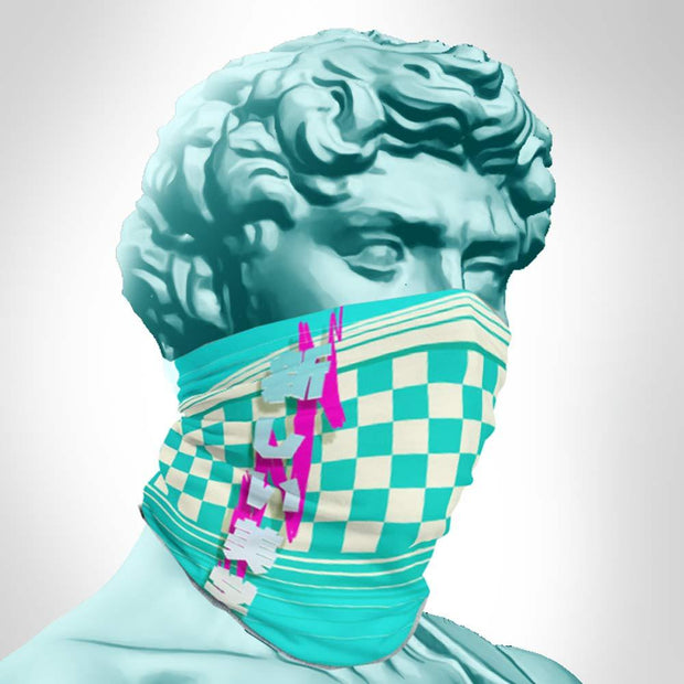 Vapormint checkered gaitor