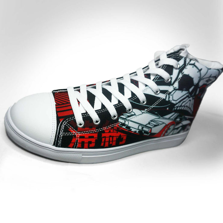 Mens DLNQNT High Top Canvas Sneaker