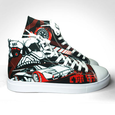 Ladies DLNQNT High Top Canvas Sneaker