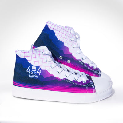 Ladies 404 Error Hightop Canvas shoe