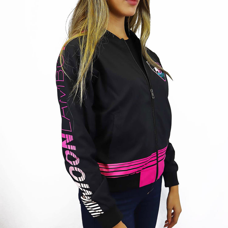 Ladies Retrowave Bomber Jacket