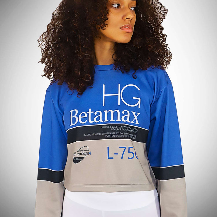 BETAMAX French Terry Women's Cropped Sweatshirt size Small