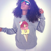 BITCONE PLUSH FLEECE UNISEX RAGLAN SS
