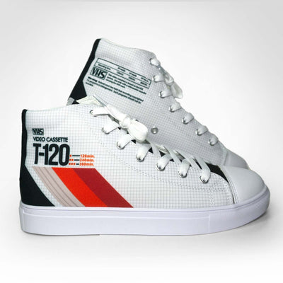 LADIES VHS THROWBACK Hightop Canvas Shoe