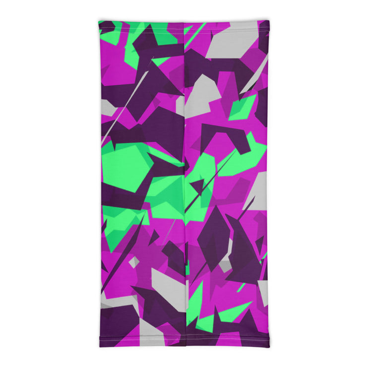 Purple-Lime Lambo Camo Neck Gaiter