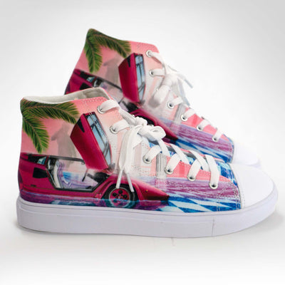 Mens Andromeda Hightop Canvas Shoe