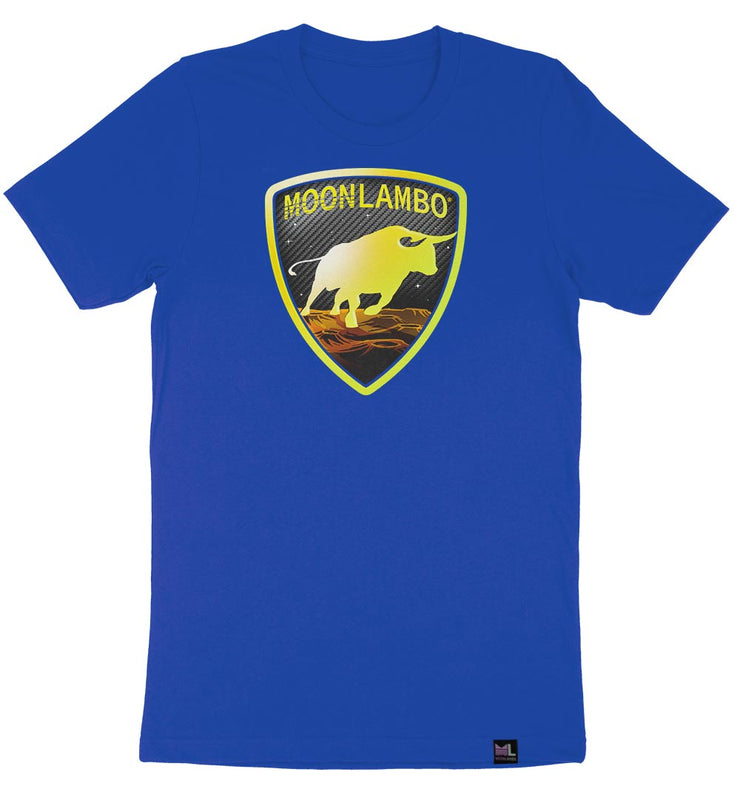 Charging Toro Badge tee - Blue