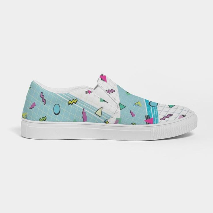 Ladies 90's pattern grid Slip-On Canvas Shoe