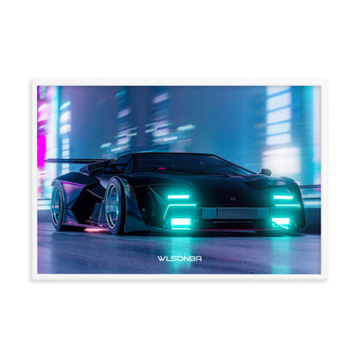 "Delinquent countach Framed Print 24""x36"""