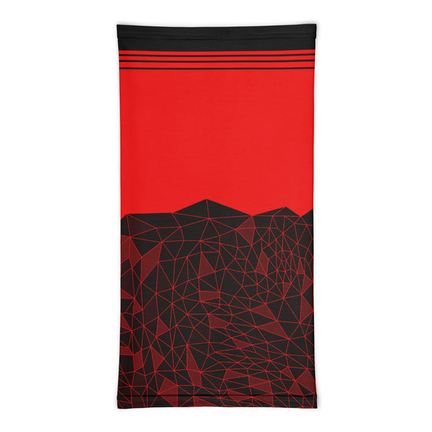 Shattered nodes Neck Gaiter (red)