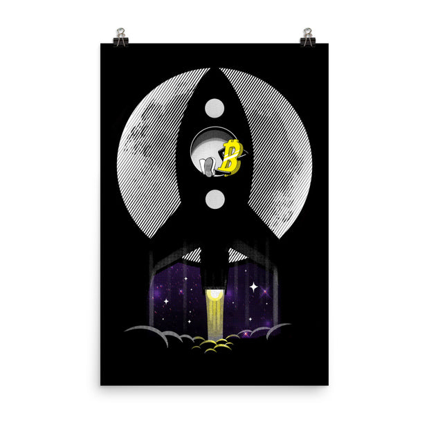 Straight to the Moon Print
