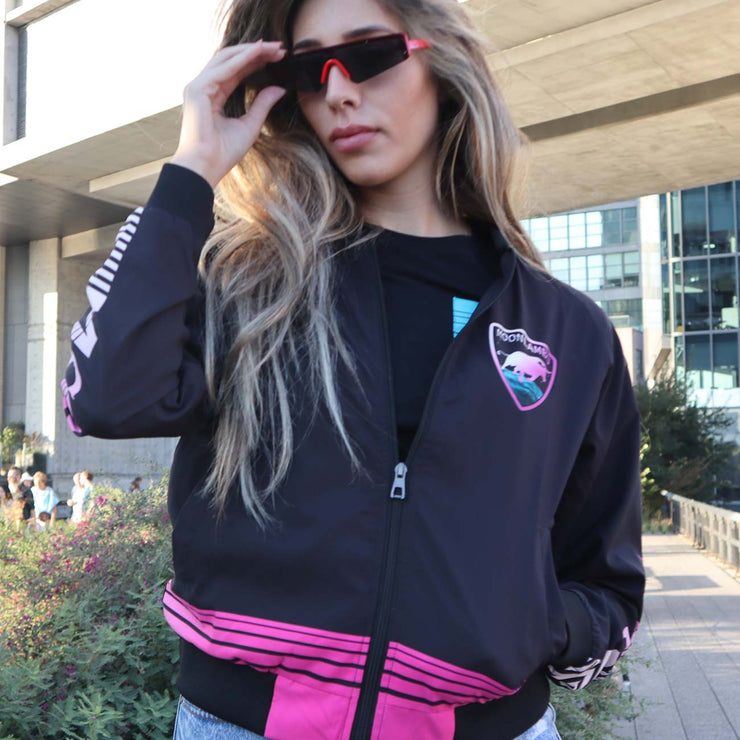 Ladies Retrowave Bomber Jacket Size Small
